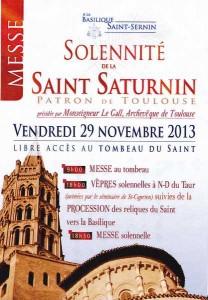 Solennite St Sernin 29 nov 2013