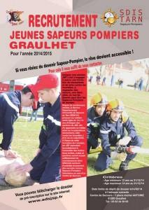 affiche-RECRUTEMENT JSPompiers Graulhet 26 nov 2013