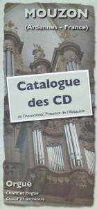 catalogue CD orgue de MOUZON