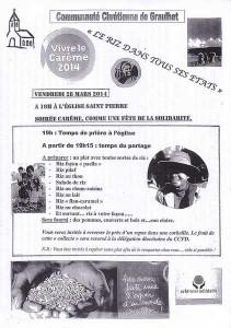Bol de riz  Graulhet St Pierre 28 mars 2014