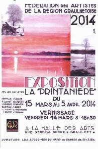 Expo Printemps Halle aux arts Graulhet  14 mars 2014
