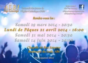 Pop louange Albi 29 mars2014 Bon Sauveur