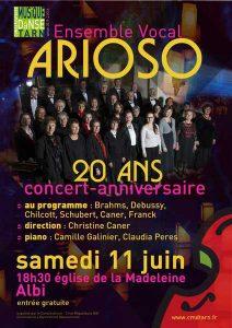 Affiche Arioso_Concert_20_ans_Albi