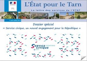 lettre prefecture Tarn dossier Service civique 28 juillet 2015
