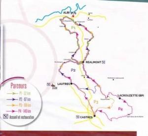 Circuit Sem cyclo  4 aout 2015 circuit Sidobre Castres Lautrec