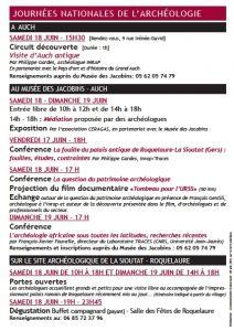 Archeologie Auch Roquelaure 18 19 juin 2016 2