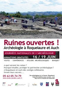 Archeologie Auch Roquelaure 18 19 juin 2016