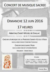 Concert Gaillac 12 juin 2016 choeur diocesain