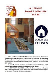 Lescout sonneurs Nuit des eglises 2 juillet 2016