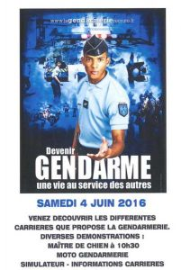 affiche gendarmerie 4 juin 2016 Albi